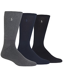 Polo Ralph Lauren Men's 3-Pk. Twisted Crew Casual Socks