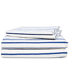 Lauren Ralph Lauren Alexis Cotton 4-Pc. Stripe Queen Sheet Set