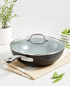 """Culinary Science by Martha Stewart Forged Aluminum 12"""" Wok, Created for Macy's"""