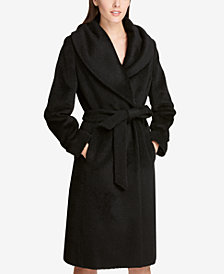 DKNY Belted Wrap Coat, Created for Macy's