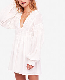 Free People Open-Back Mini A-Line Dress