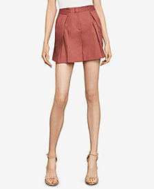 BCBGMAXAZRIA Pleated Shorts