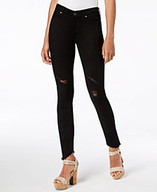 Articles of Society Sammy Ripped Asymmetrical-Hem Skinny Jeans