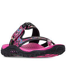 Skechers Little Girls' Reggae - Summers Athletic Flip Flop Thong Sandals from Finish Line