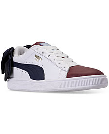 Puma Women's Basket Bow Casual Sneakers from Finish Line