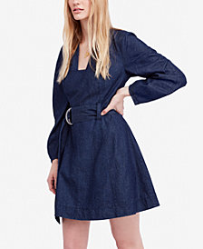 Free People Karmen Cotton Denim Mini Dress
