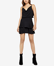 BCBGeneration Cowl-Neck Ruffle Dress