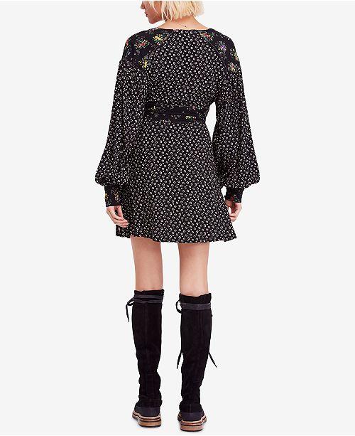 Black Free Dress Mini Wonderland Printed People qpwrgpXB