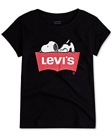 Levi's® Little Girls Sleepy Snoopy Cotton T-Shirt