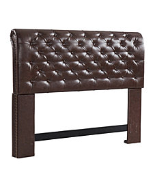 Chesterfield Headboard, Full/Queen, Vintage Faux Leather