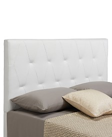 Muse Headboard, King/California King, White Faux Leather