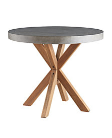 Maui Round Concrete End Table