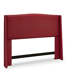 Stamford Upholstered Wing Headboard, Full/Queen, Cardinal