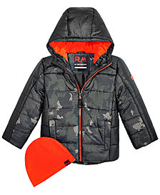 RM 1958 Toddler Boys Branson Printed Puffer Jacket with Hat