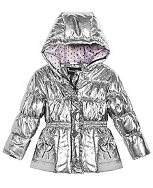 S. Rothschild Little Girls Hooded Metallic Puffer Jacket