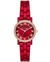6d4a121549de1 Michael Kors Women s Petite Norie Red Stainless Steel Bracelet Watch 28mm