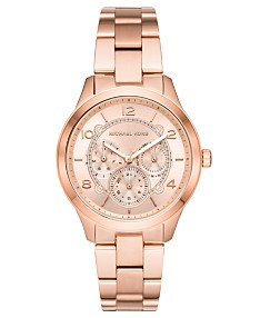 c5a72d154bd81 Michael Kors Women's Runway Rose Gold-Tone Stainless Steel Bracelet Watch  38mm