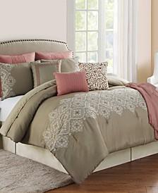 Cleo Rose 10-Piece Comforter Set, King