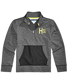 Tommy Hilfiger Toddler Boys Mixed-Media Quarter-Zip Pullover