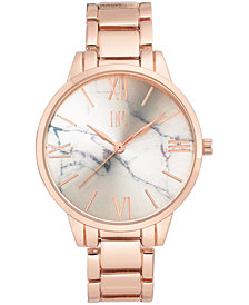 I.N.C. Women's Rose Gold-Tone Bracelet Watch 38mm, Created for Macy's