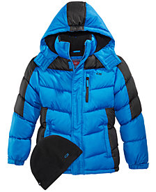 CB Sports Hooded Puffer Coat, Big Boys