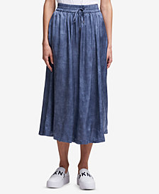 DKNY Drawstring Midi Skirt