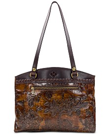 Patricia Nash Bark Leaves Poppy Tote, Created for Macy's