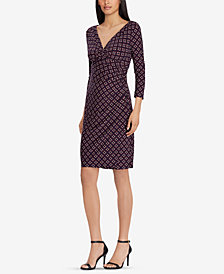 Lauren Ralph Lauren Printed Surplice Dress