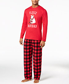 Matching Family Pajamas Men's Fleece Navidad Pajama Set, Created for Macy's