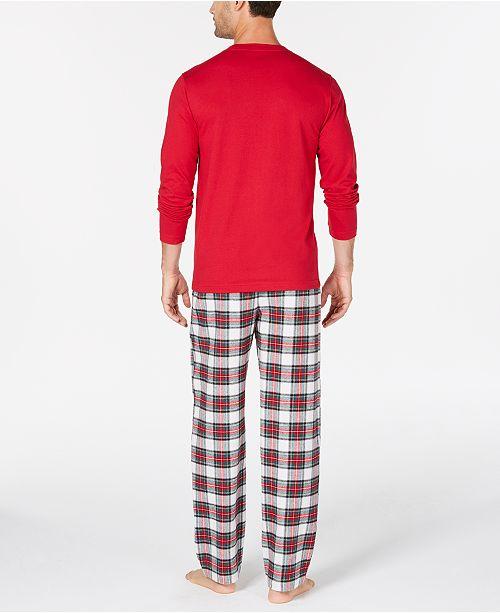 1d0264874f43 Family Pajamas Matching Men s Stewart Plaid Pajama Set