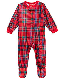 Matching Family Pajamas Infant Brinkley Plaid Footed Pajamas, Created for Macy's