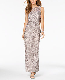 SL Fashions Embellished Sleeveless Gown