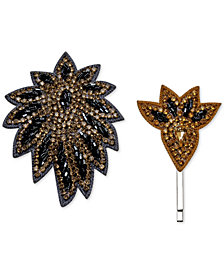 Deepa 2-Pc. Set Gunmetal-Tone Clip & Hair Pin