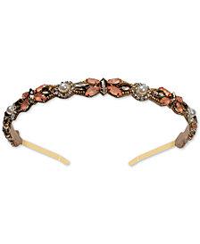 Deepa Gold-Tone Pink Crystal Headband