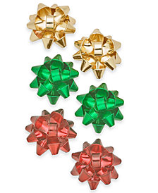 Holiday Lane Gold-Tone 3-Pc. Set Gift Bow Stud Earrings, Created for Macy's