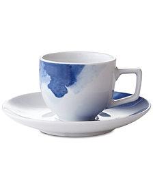 Darbie Angell Watercolor Espresso Cup & Saucer