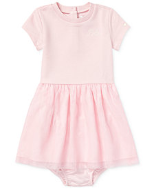 Ralph Lauren Baby Girls Tulle Shirtdress