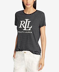 Lauren Ralph Lauren Striped Logo T-Shirt