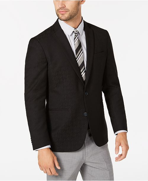 Kenneth Cole Reaction Men's Slim-Fit Tonal Floral Dinner Jacket, Online Only