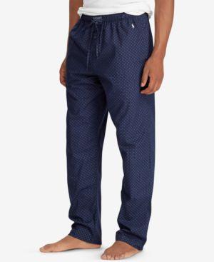 Polo Ralph Lauren Men S Woven Cotton Pajama Pants In Cruise Navy