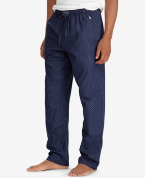 Polo Ralph Lauren Men S Woven Cotton Pajama Pants In Cruise Navy