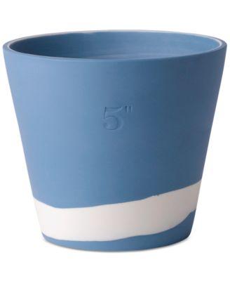 "Burlington Blue & White Pot 5"""