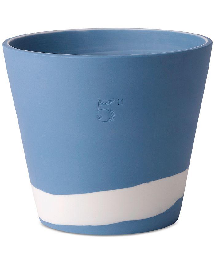 "Wedgwood - Burlington Blue & White Pot 5"""