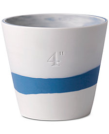 Wedgwood Burlington Blue & White Pot 4""