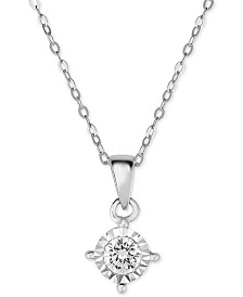 TruMiracle® Diamond Solitaire Pendant Necklace (3/8 ct. t.w.) in 14k Gold or White Gold