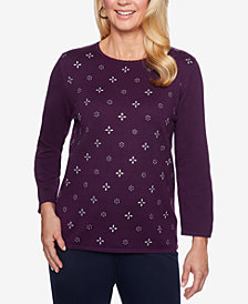 Alfred Dunner Embellished Sweater