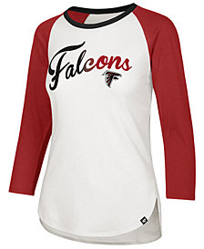 '47 Brand Women's Atlanta Falcons Splitter Ombre Raglan T-Shirt
