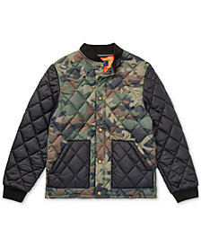 Polo Ralph Lauren Big Boys Camo Quilted Baseball Jacket
