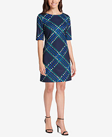 Jessica Howard Petite Plaid Shift Dress