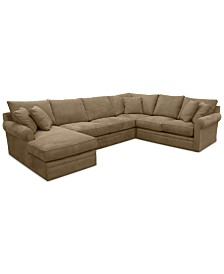 Doss II 4-Pc. Fabric Chaise Sectional Sofa